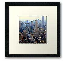 New York skyline Framed Print