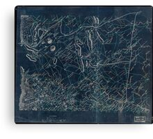 029  Map of parts of Fauquier Prince William and Rappahannock counties Va Inverted Canvas Print