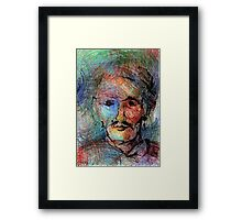 Really you, 50-70cm, wax pastels Framed Print