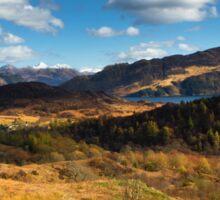 Highland view. Sticker