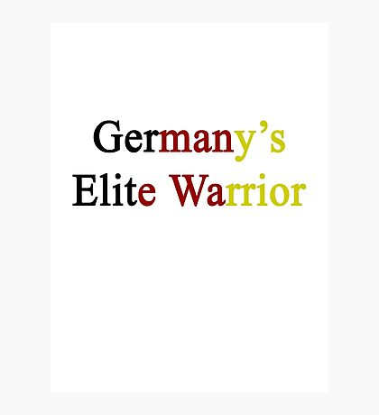 Germany's Elite Warrior  Photographic Print