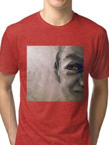 Snake eyes, 2010, 30-30cm, oil on cardboard Tri-blend T-Shirt