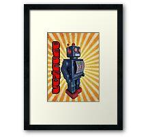 ROBOT DESTROY! Framed Print