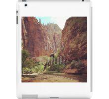 Wander&Explore iPad Case/Skin
