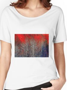 White Trees by Lena Owens/OLena Art Women's Relaxed Fit T-Shirt