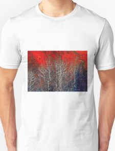 White Trees by Lena Owens/OLena Art Unisex T-Shirt