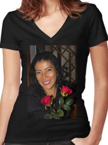 Lovely Lady 42 Women's Fitted V-Neck T-Shirt