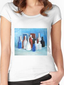 Study in 2 colors, 2010, 80-70cm, oil on paper Women's Fitted Scoop T-Shirt
