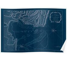 American Revolutionary War Era Maps 1750-1786 313 An authentic plan of the town and harbour of Cap François in the isle of St Domingo Inverted Poster
