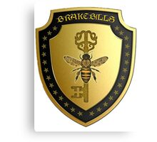 Small gold Brakebills Crest Canvas Print