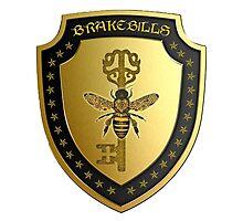 Small gold Brakebills Crest Photographic Print