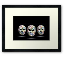 Three mask with money face  Framed Print