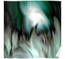 abstract green by rafi talby Poster