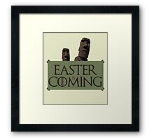 Easter is coming - GOT parody Framed Print