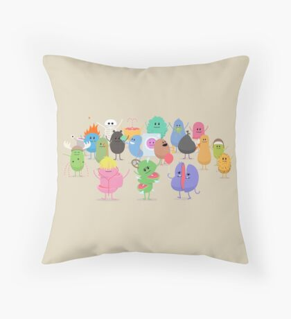 Dumb Ways to Die Family Throw Pillow