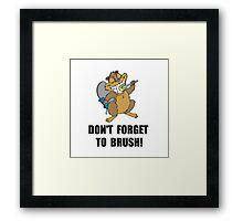 Beaver Brush Framed Print