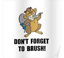 Beaver Brush Poster