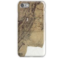216 Map showing the routes of Brig Gen JB ie JD Imbodens command during the Pennsylvania campaign of 1863 iPhone Case/Skin