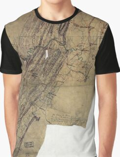 216 Map showing the routes of Brig Gen JB ie JD Imbodens command during the Pennsylvania campaign of 1863 Graphic T-Shirt