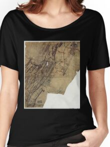 216 Map showing the routes of Brig Gen JB ie JD Imbodens command during the Pennsylvania campaign of 1863 Women's Relaxed Fit T-Shirt