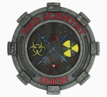 Mad Scientist Union Logo 3D Kids Tee