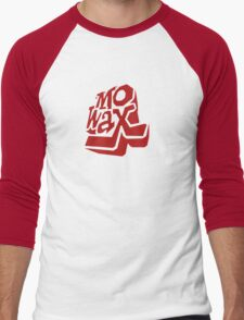Record Label 3 (red) Men's Baseball ¾ T-Shirt