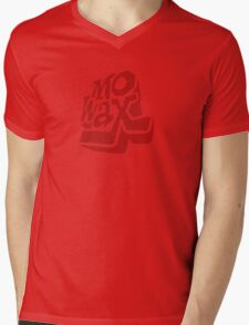 Record Label 3 (red) Mens V-Neck T-Shirt
