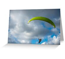 The Paraglider Greeting Card