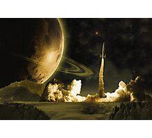 Vintage Rocket Launch Photographic Print
