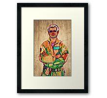 Peter Venkman (timber) Framed Print