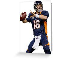 Peyton Manning Broncos Football Player Greeting Card