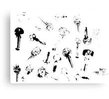Printed Keys Canvas Print