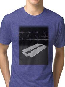 Razor blade Tri-blend T-Shirt
