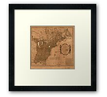 American Revolutionary War Era Maps 1750-1786 350 Bowles's new pocket map of the United States of America the British possessions of Canada Nova Scotia and Framed Print
