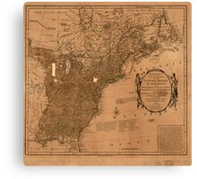 American Revolutionary War Era Maps 1750-1786 350 Bowles's new pocket map of the United States of America the British possessions of Canada Nova Scotia and Canvas Print