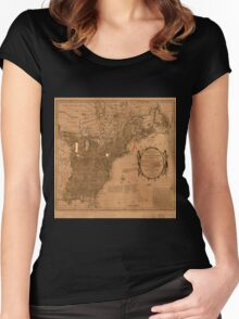 American Revolutionary War Era Maps 1750-1786 350 Bowles's new pocket map of the United States of America the British possessions of Canada Nova Scotia and Women's Fitted Scoop T-Shirt