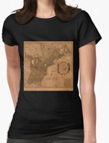 American Revolutionary War Era Maps 1750-1786 350 Bowles's new pocket map of the United States of America the British possessions of Canada Nova Scotia and Womens Fitted T-Shirt