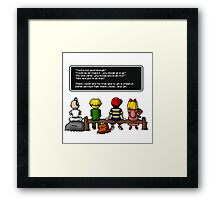 Fight the Voices! Framed Print