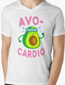 AVOCARDIO Mens V-Neck T-Shirt