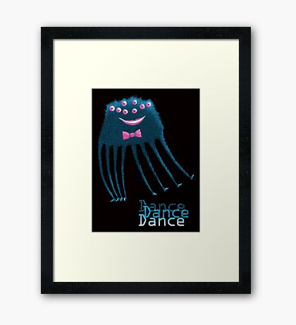 Techno Dance Disco Spider Framed Print