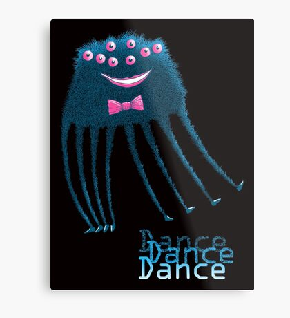 Techno Dance Disco Spider Metal Print