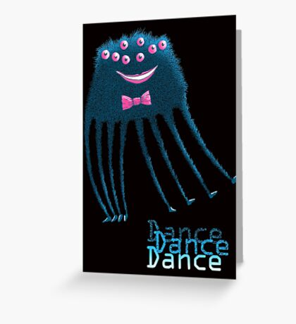 Techno Dance Disco Spider Greeting Card