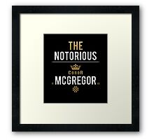 Notorious McGregor | v1 Framed Print