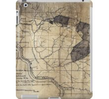 204 Map showing location c of Middleton coal lands Fayette County W Va iPad Case/Skin