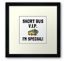 Short Bus VIP Framed Print