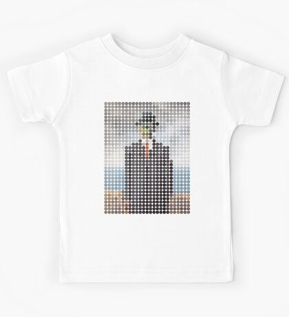 the son of a man magritte surrealism 1900, Benday Dots Kids Tee