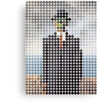 the son of a man magritte surrealism 1900, Benday Dots Canvas Print