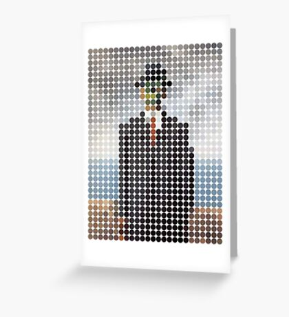 the son of a man magritte surrealism 1900, Benday Dots Greeting Card