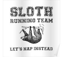 Sloth Running Team Poster