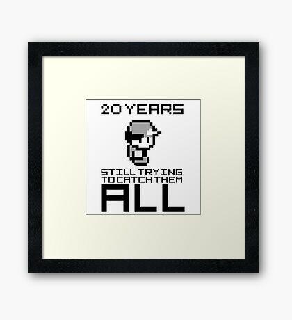 Pokemon 20 Years Anniversary Framed Print